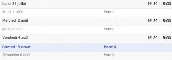 horaires d'ouverture de la Mairie De Bréville-Les-Monts
