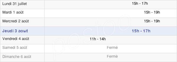 horaires d'ouverture de la Mairie De Garcelles-Secqueville