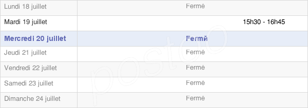 horaires d'ouverture de la Mairie De Fresney-Le-Vieux