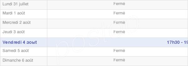 horaires d'ouverture de la Mairie De Repentigny