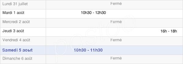 horaires d'ouverture de la Mairie De Plumetot