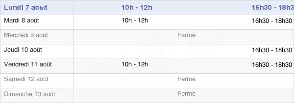 horaires d'ouverture de la Mairie De Grainville-Sur-Odon
