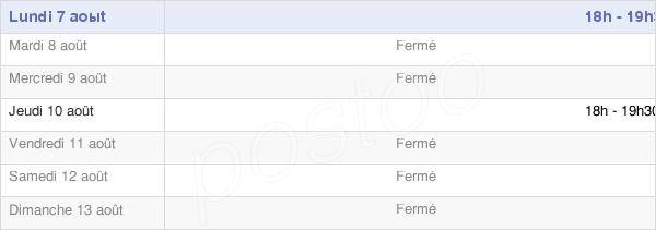 horaires d'ouverture de la Mairie De Saint-Martin-Aux-Chartrains