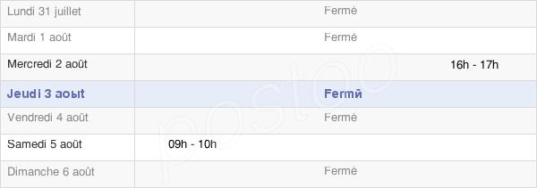 horaires d'ouverture de la Mairie De Ergnies