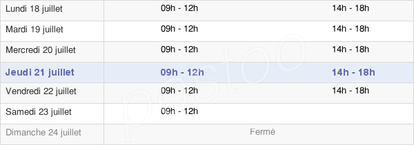 horaires d'ouverture de la Mairie De Deauville