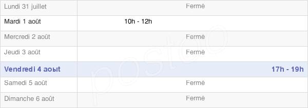 horaires d'ouverture de la Mairie De Mandeville-En-Bessin