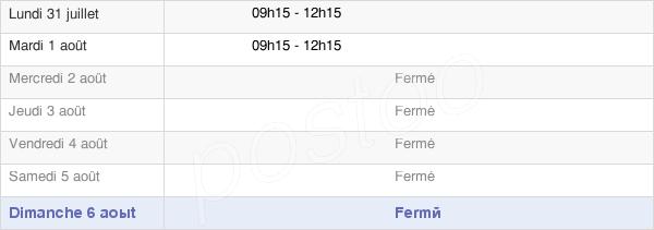 horaires d'ouverture de la Mairie De Ver-Sur-Mer