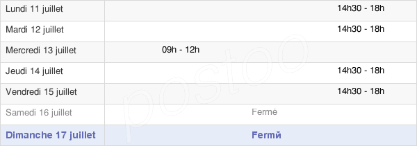 horaires d'ouverture de la Mairie De Saint-Germain-Du-Crioult