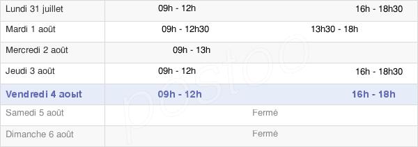horaires d'ouverture de la Mairie De Colleville-Montgomery