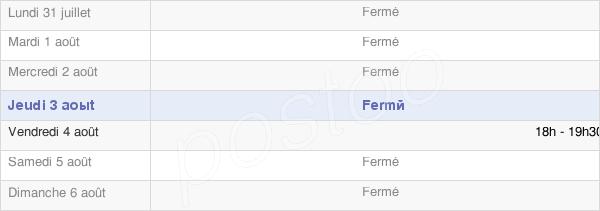 horaires d'ouverture de la Mairie De Fresnoy-Andainville