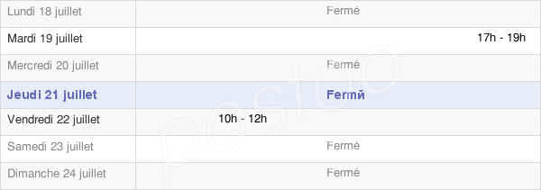 horaires d'ouverture de la Mairie De Yvrench