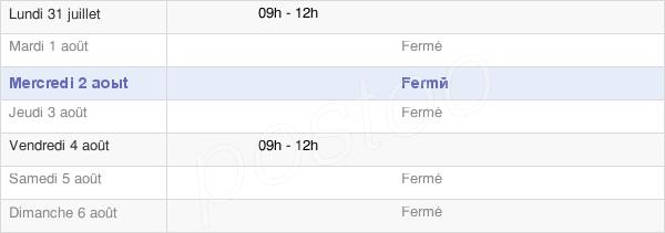 horaires d'ouverture de la Mairie Des Menus