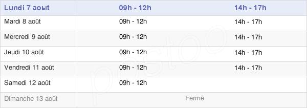 horaires d'ouverture de la Mairie De Dieulefit