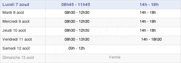 horaires d'ouverture de la Mairie De Fressenneville