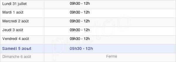 horaires d'ouverture de la Mairie De Bretoncelles