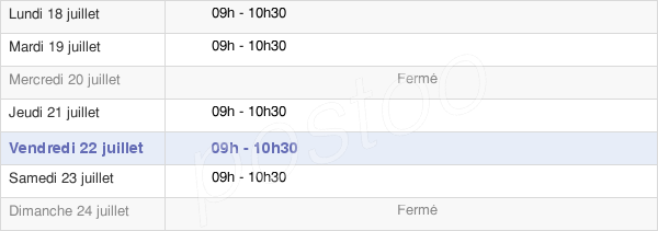 horaires d'ouverture de la Mairie D'Arvillers