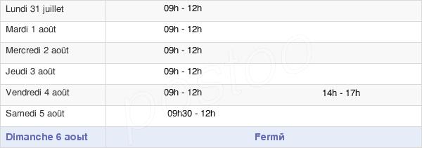 horaires d'ouverture de la Mairie De Dreuil-Lès-Amiens