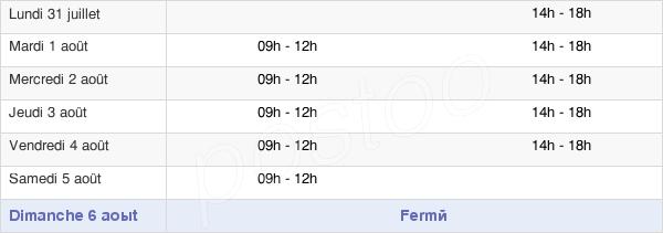 horaires d'ouverture de la Mairie De Montierchaume