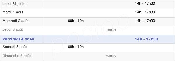 horaires d'ouverture de la Mairie De Coings