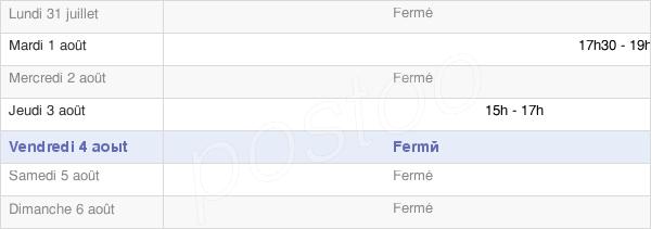 horaires d'ouverture de la Mairie De Lieramont