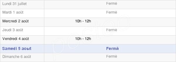 horaires d'ouverture de la Mairie De Rupt-Devant-Saint-Mihiel