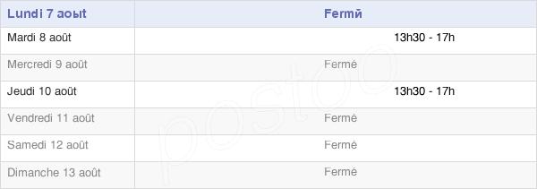 horaires d'ouverture de la Mairie De Verneuil-Petit