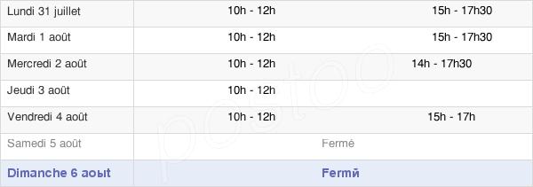 horaires d'ouverture de la Mairie De Damart-En-Ponthieu