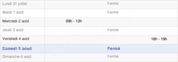 horaires d'ouverture de la Mairie De Villers-Aux-Vents