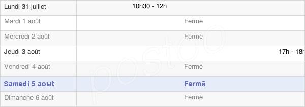 horaires d'ouverture de la Mairie De Breux