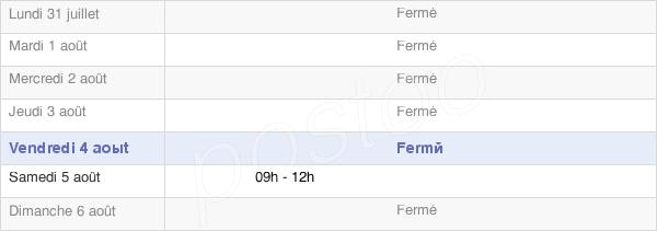 horaires d'ouverture de la Mairie De Aumont