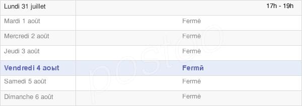 horaires d'ouverture de la Mairie De Bresle