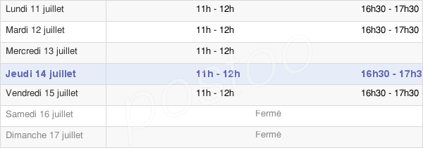 horaires d'ouverture de la Mairie De Bouvaincourt-Sur-Bresle