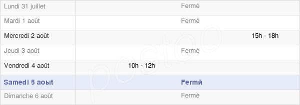 horaires d'ouverture de la Mairie De Bouchon-Sur-Saulx