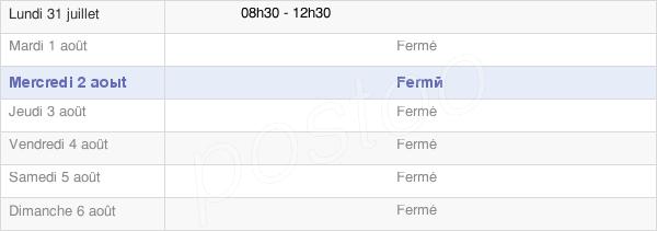 horaires d'ouverture de la Mairie De Courouvre