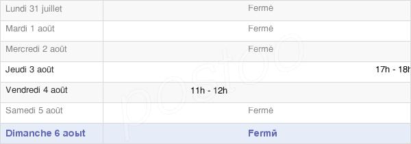horaires d'ouverture de la Mairie De Moulins Saint Hubert