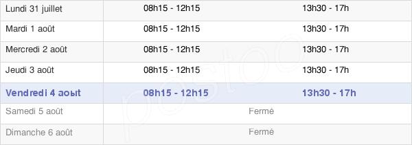 horaires d'ouverture de la Mairie De Eppeville