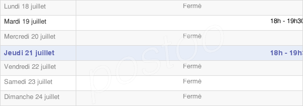 horaires d'ouverture de la Mairie D'Estrées-Deniécourt