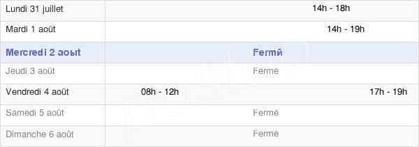 horaires d'ouverture de la Mairie De Pierregot