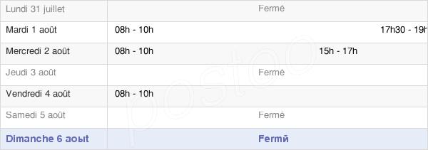 horaires d'ouverture de la Mairie De Lucheux