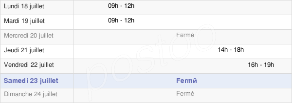 horaires d'ouverture de la Mairie De Soye-En-Septaine