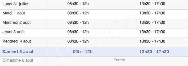 horaires d'ouverture de la Mairie De La Chapelle-Saint-Ursin