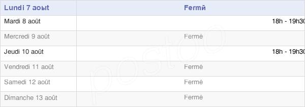 horaires d'ouverture de la Mairie D'Estrées-Lès-Crécy