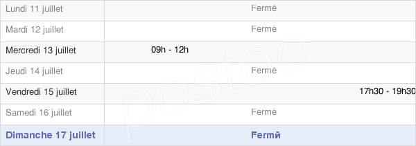 horaires d'ouverture de la Mairie De Marieux