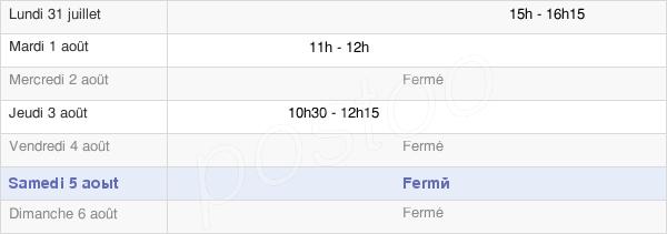 horaires d'ouverture de la Mairie D'Acheux-En-Amiénois