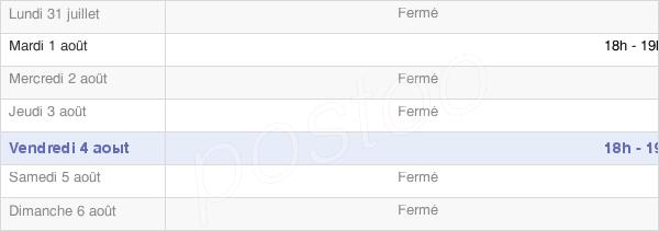 horaires d'ouverture de la Mairie De Port-Le-Grand