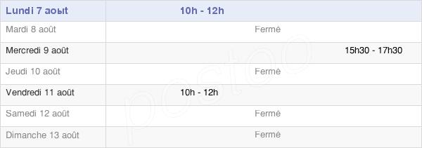 horaires d'ouverture de la Mairie De Lerné