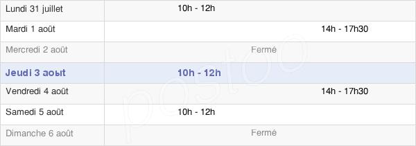 horaires d'ouverture de la Mairie De Maillé