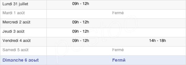 horaires d'ouverture de la Mairie D'Antogny-Le-Tillac