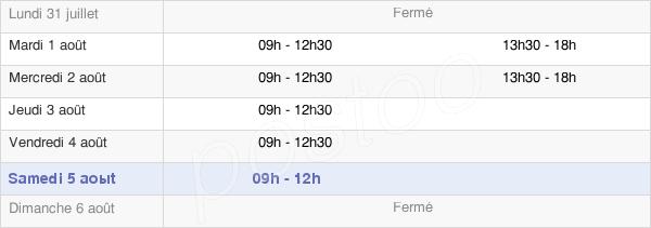 horaires d'ouverture de la Mairie De La Chapelle-Au-Riboul