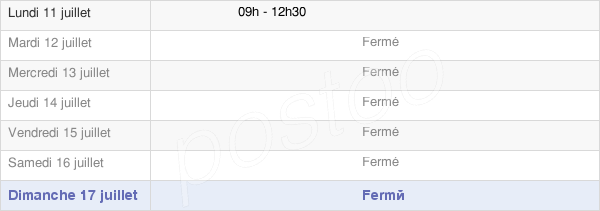 horaires d'ouverture de la Mairie De Vieuvy